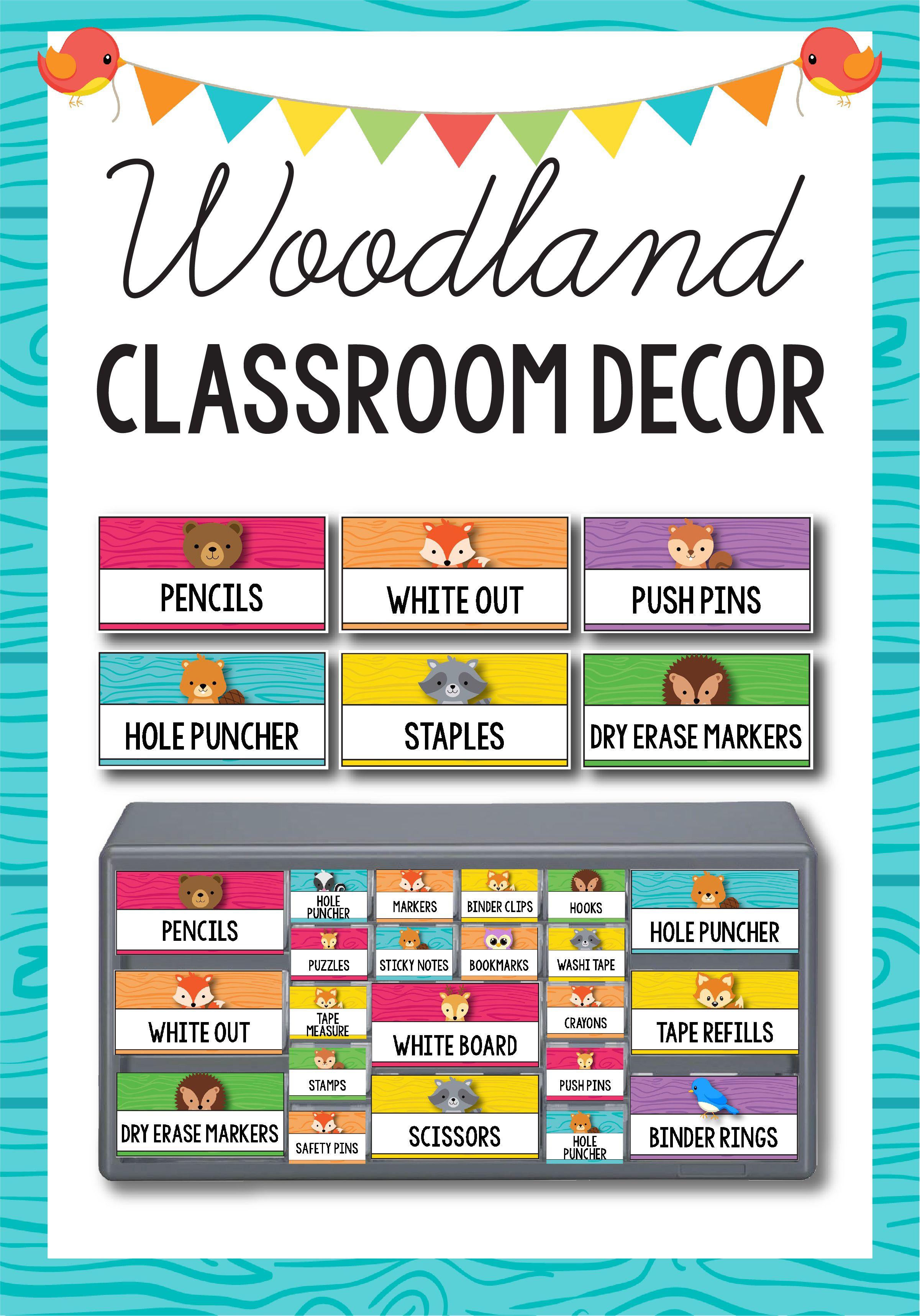 Woodland Animals Classroom Decor MEGA BUNDLE, Camping Theme ...