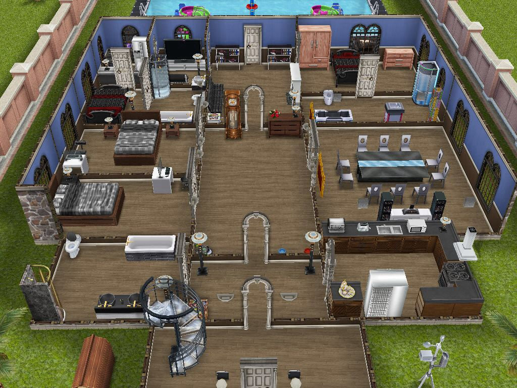 This house is where my wealthiest sim lives sims for Sims house layouts