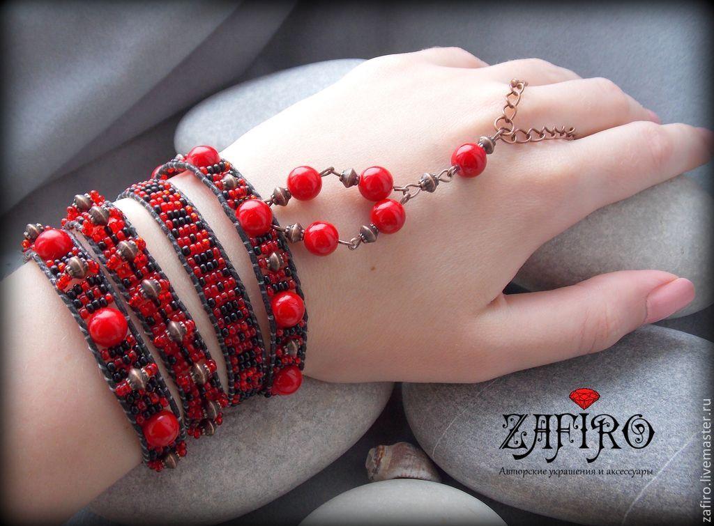 Купить бордовый браслет