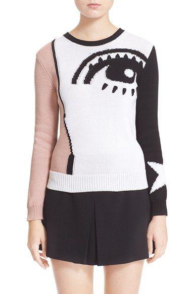 7f74fbb0b4835 Women's RED Valentino Eye Graphic Sweater | sweaters | Graphic ...