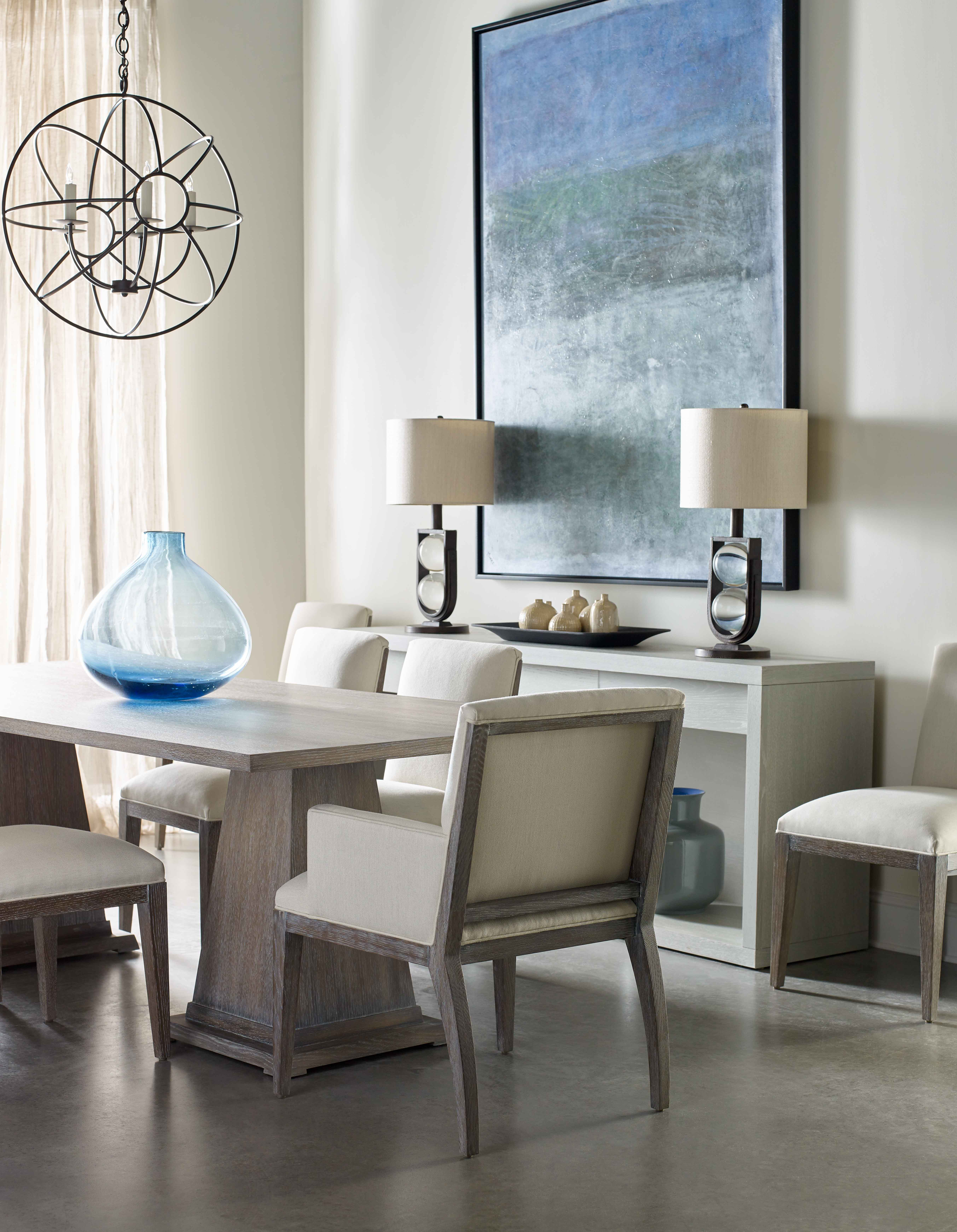 Wedge Double Pedestal Dining Table Larkin Chairs Del Rey