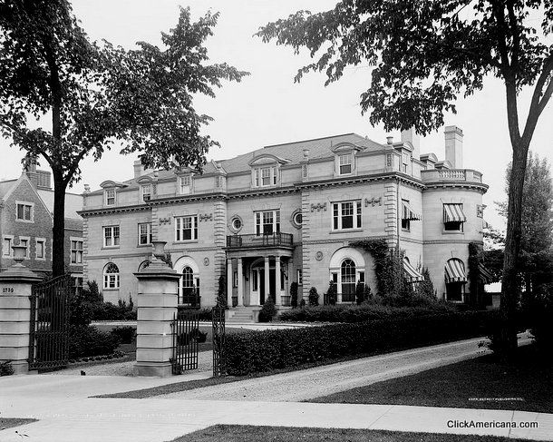 Beautiful Victorian Homes Mansions In Old Detroit Early 1900s