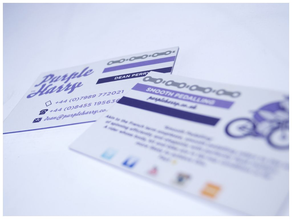 Extra thick, luxury business cards for Purple Harry! We love these ...
