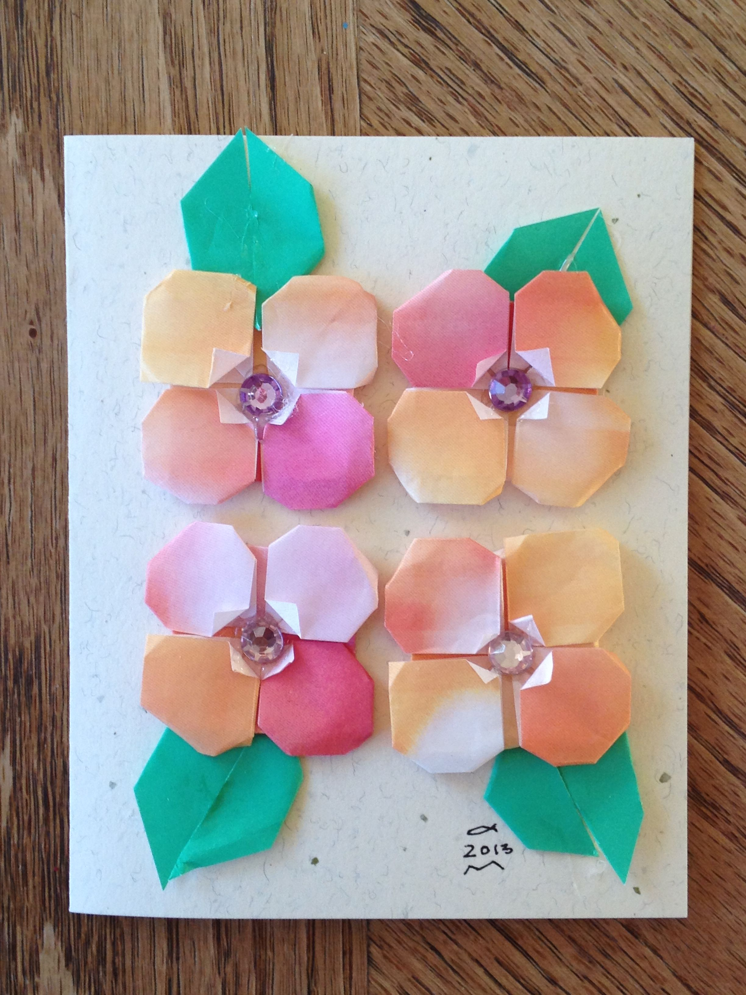 Thinking of you origami flower card ms origami favorites thinking of you origami flower card mightylinksfo