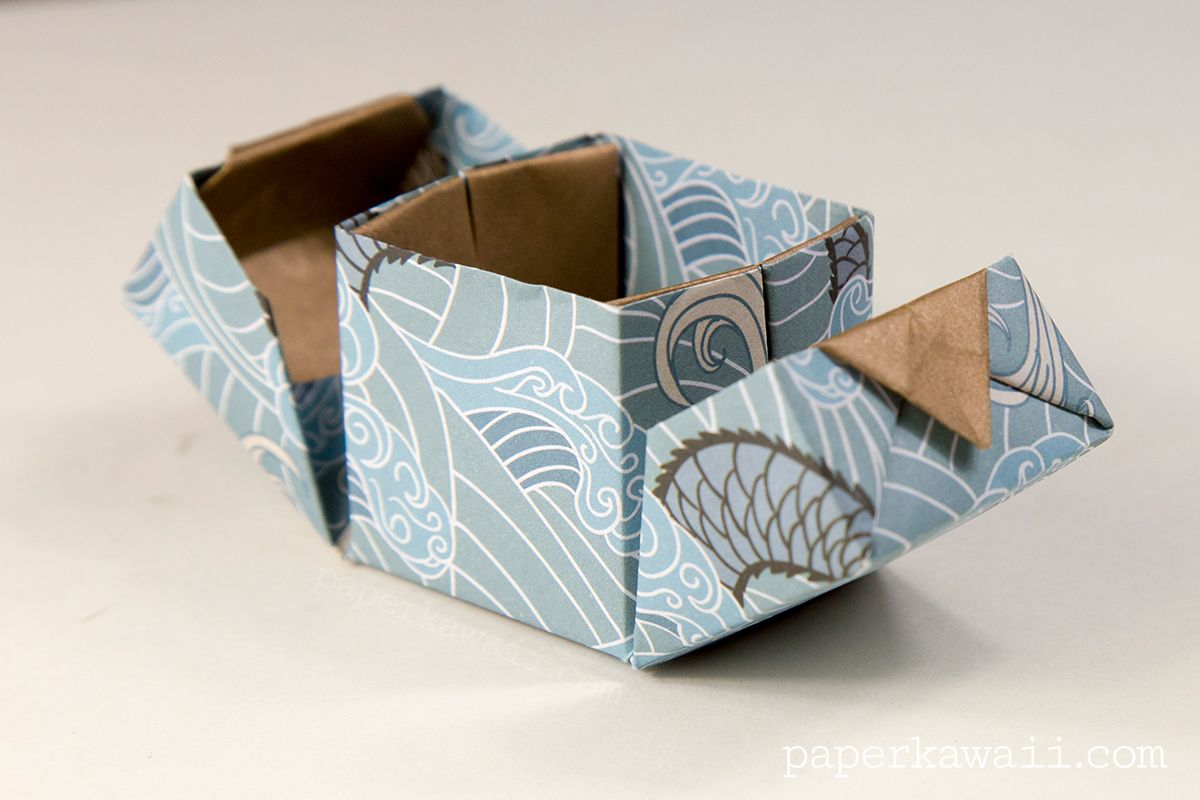 Origami Hinged Box VideoTutorial, Learn how to make a ... - photo#30