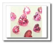 Saphir Rose Coeur 0.35 ct