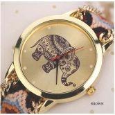 Z6 New Fashion Women Braided Rope Bracelet Wristwatch Relogio Feminino Bohemian Style Quartz Watch Dress Watches