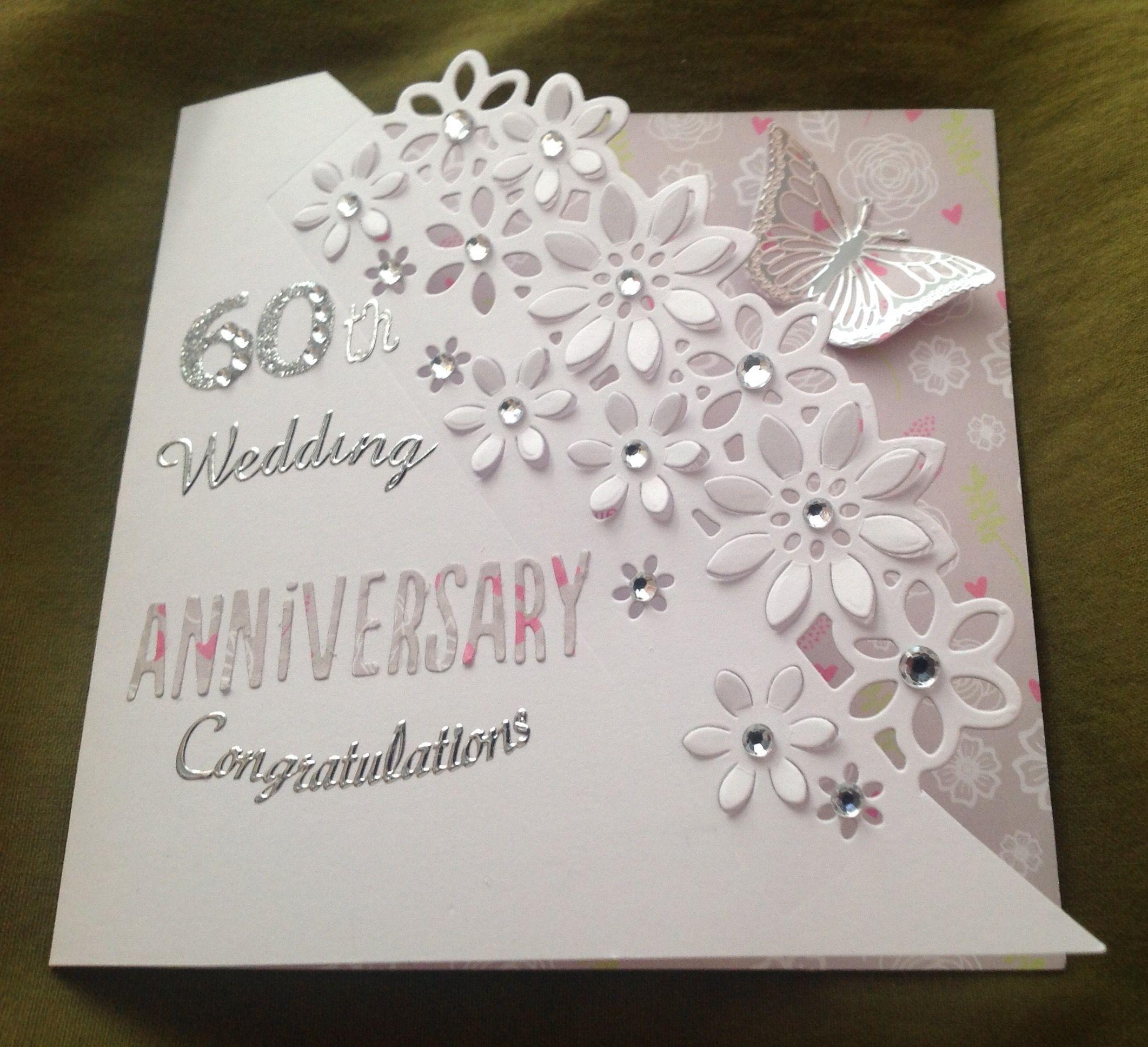 Diamond wedding anniversary card 60 Years Diamond