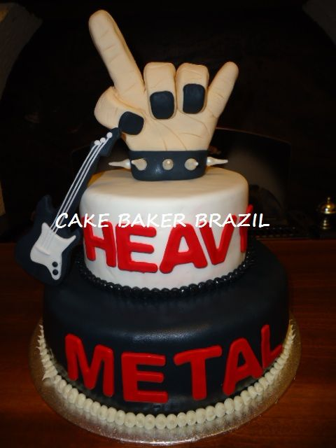 Bolo Heavy Metal Cake Cakepins Com Fiestas Tem 225 Ticas