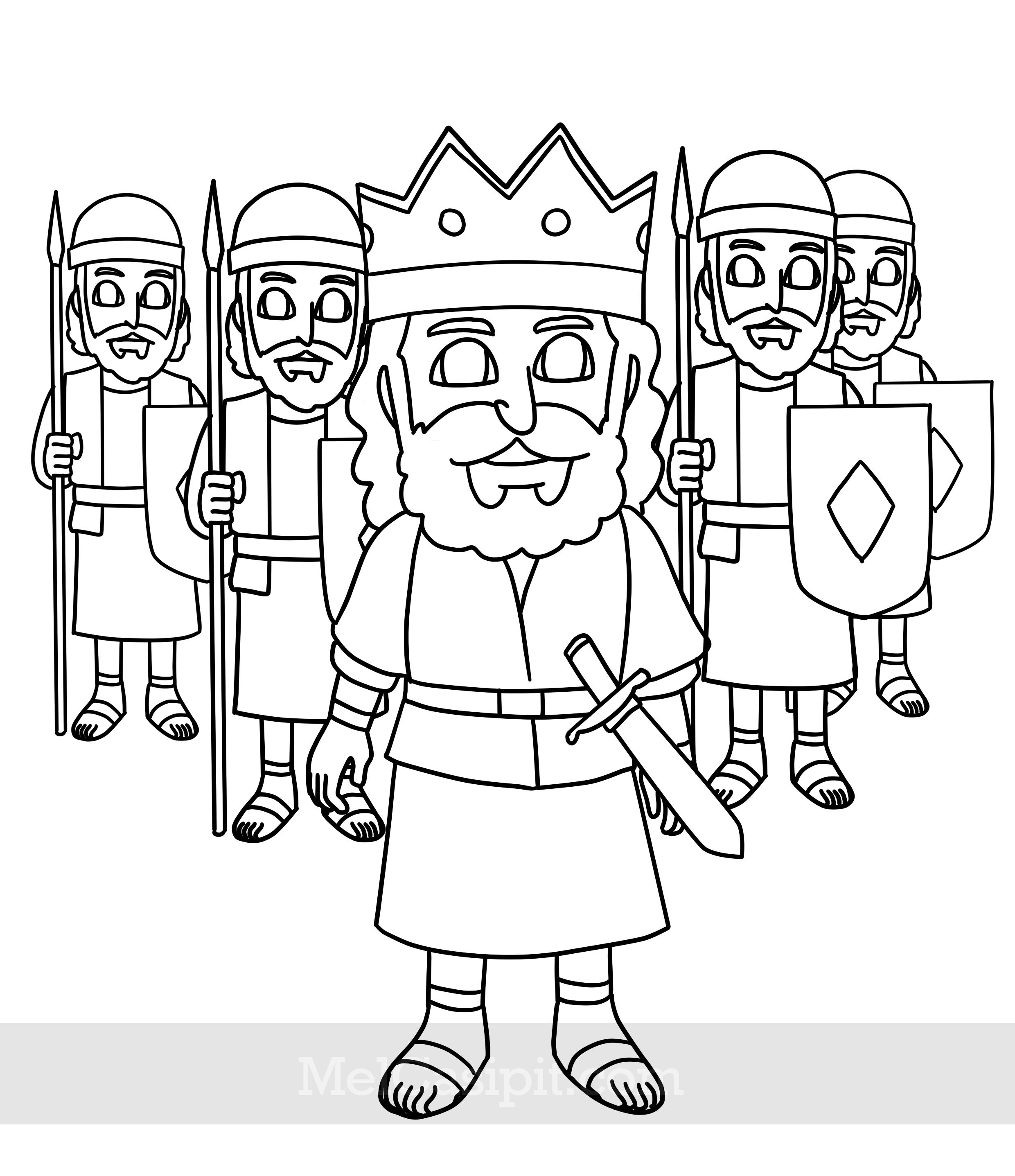 King Asa Coloring Page