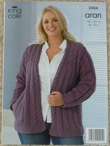 Knitting pattern ladies jacket plus size aran knit crochet knitting pattern ladies jacket plus size aran dt1010fo