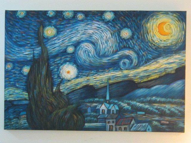 Van Gogh S Starry Night By Geelong Oil Painting On Canvas Post Impressionism Postimpressionism Canvas Painting Starry Night Van Gogh Oil Painting On Canvas