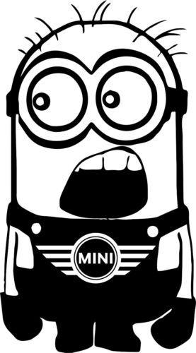 Minion AUDI Autocollant Voiture Vinyle