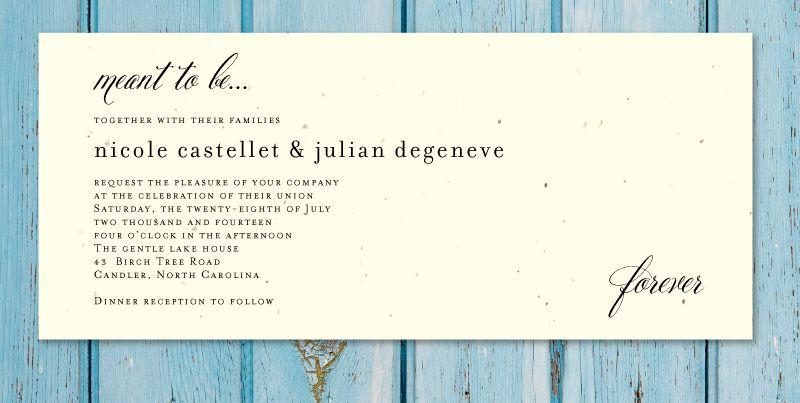 Plantable wedding invitations beginnings sophisticated wedding sophisticated wedding invitations stopboris Images