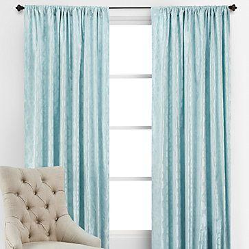 z gallerie blue (aqua) benito velvet panels | gorgeous drapes