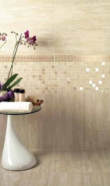 Travertino Beige Gres Rivestimento Classic Wall Tiles Wall