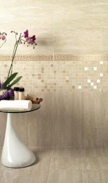 Travertino beige gres rivestimento | bagno | Pinterest | Beige, Tile ...