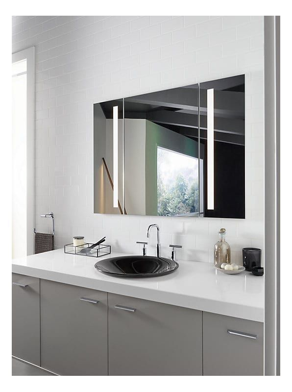 Kohler K 99011 Tlc Lighted Medicine Cabinet Bathroom Mirror Cabinet Mirror Cabinet With Light