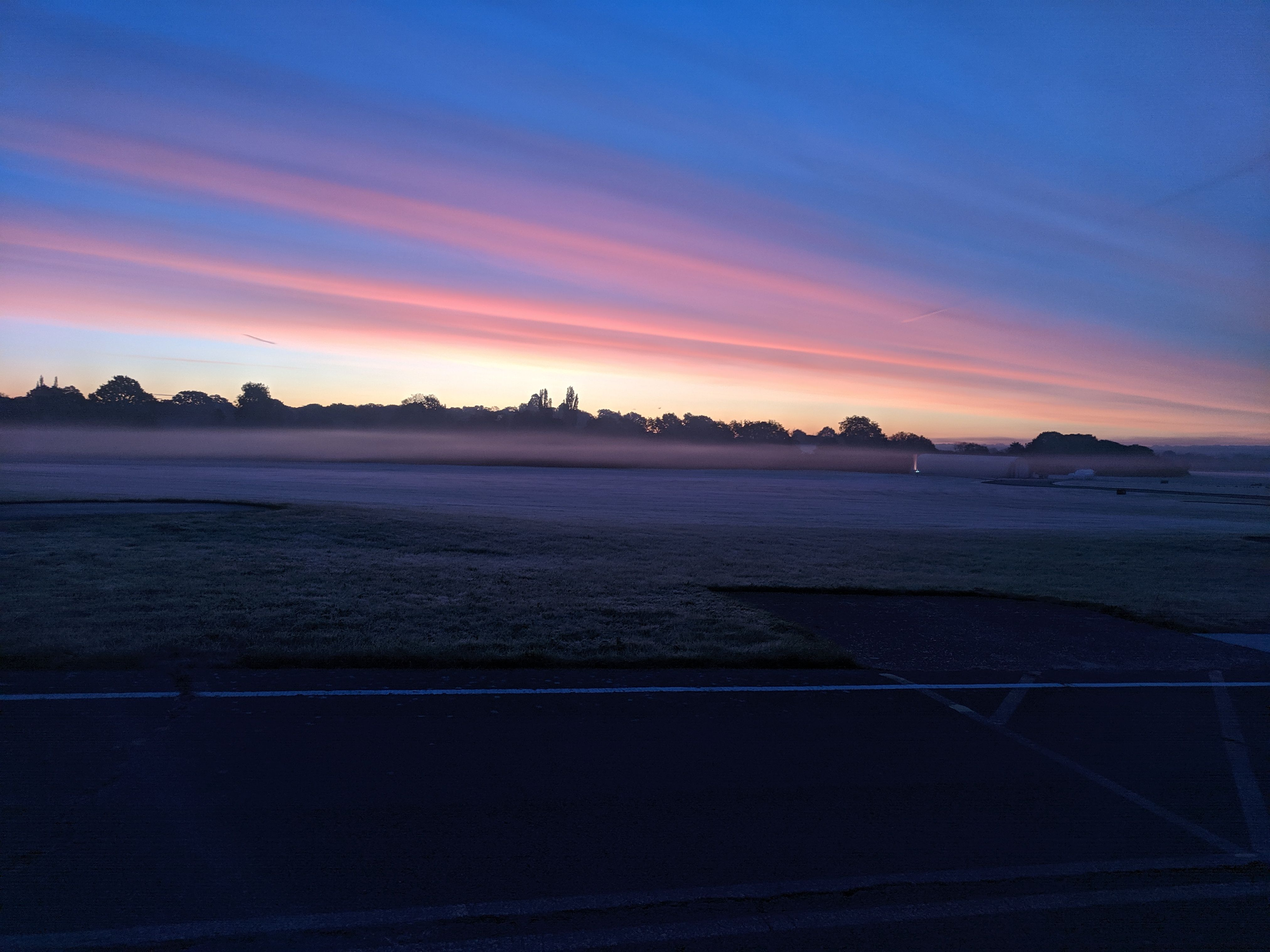 Beautiful morning on the airport.A nice day to fly in a