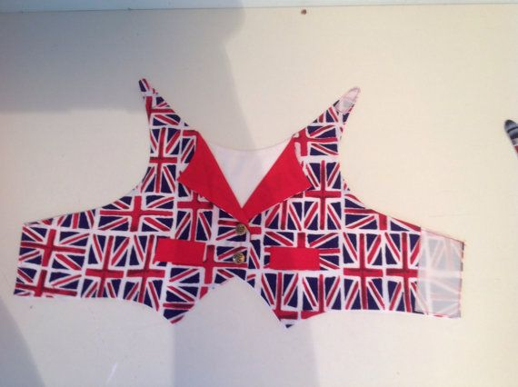 Union Jack dog dress for girls or waistcoat by Preciouspupboutique