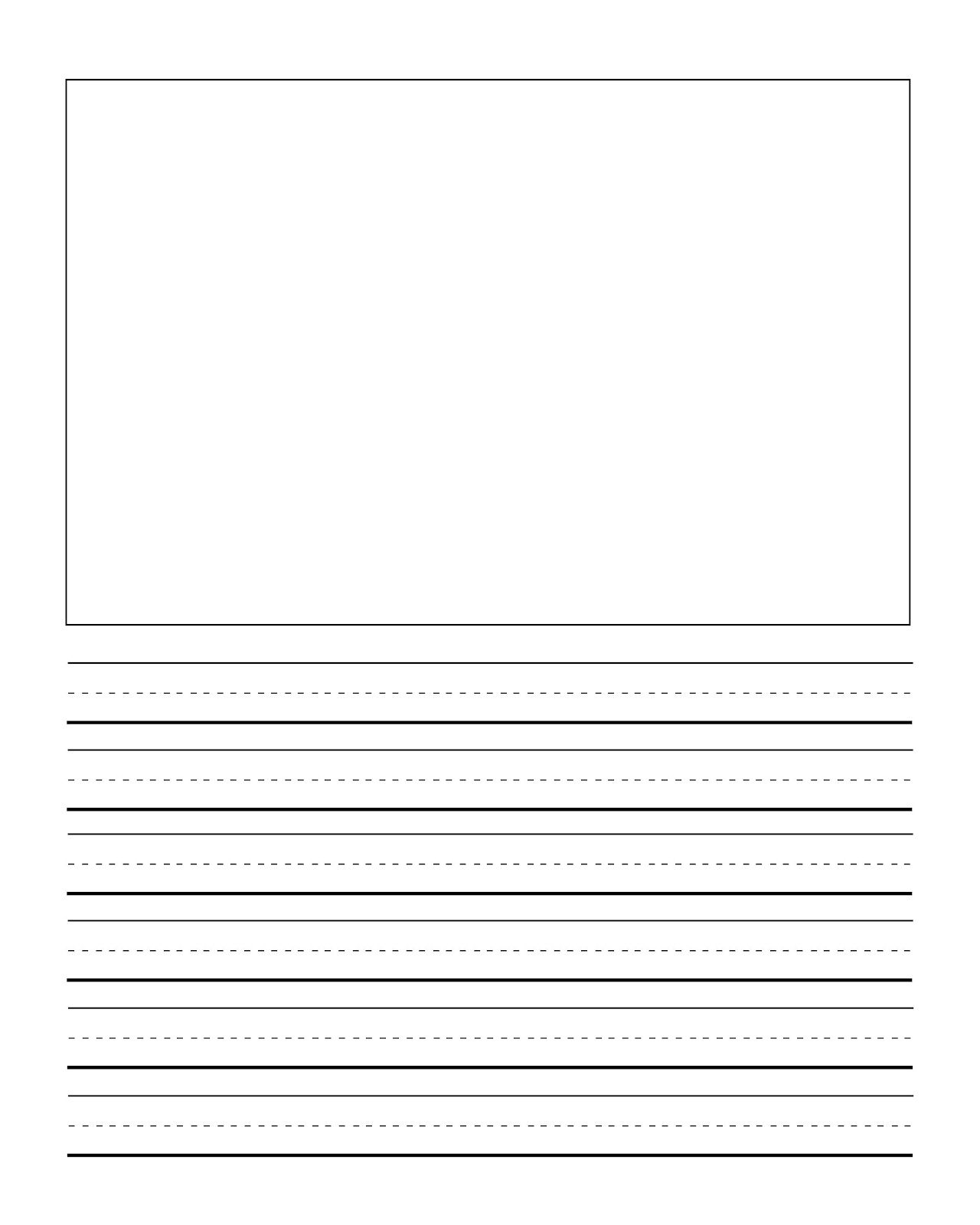 first grade writng paper template with picture – School Writing Paper Template