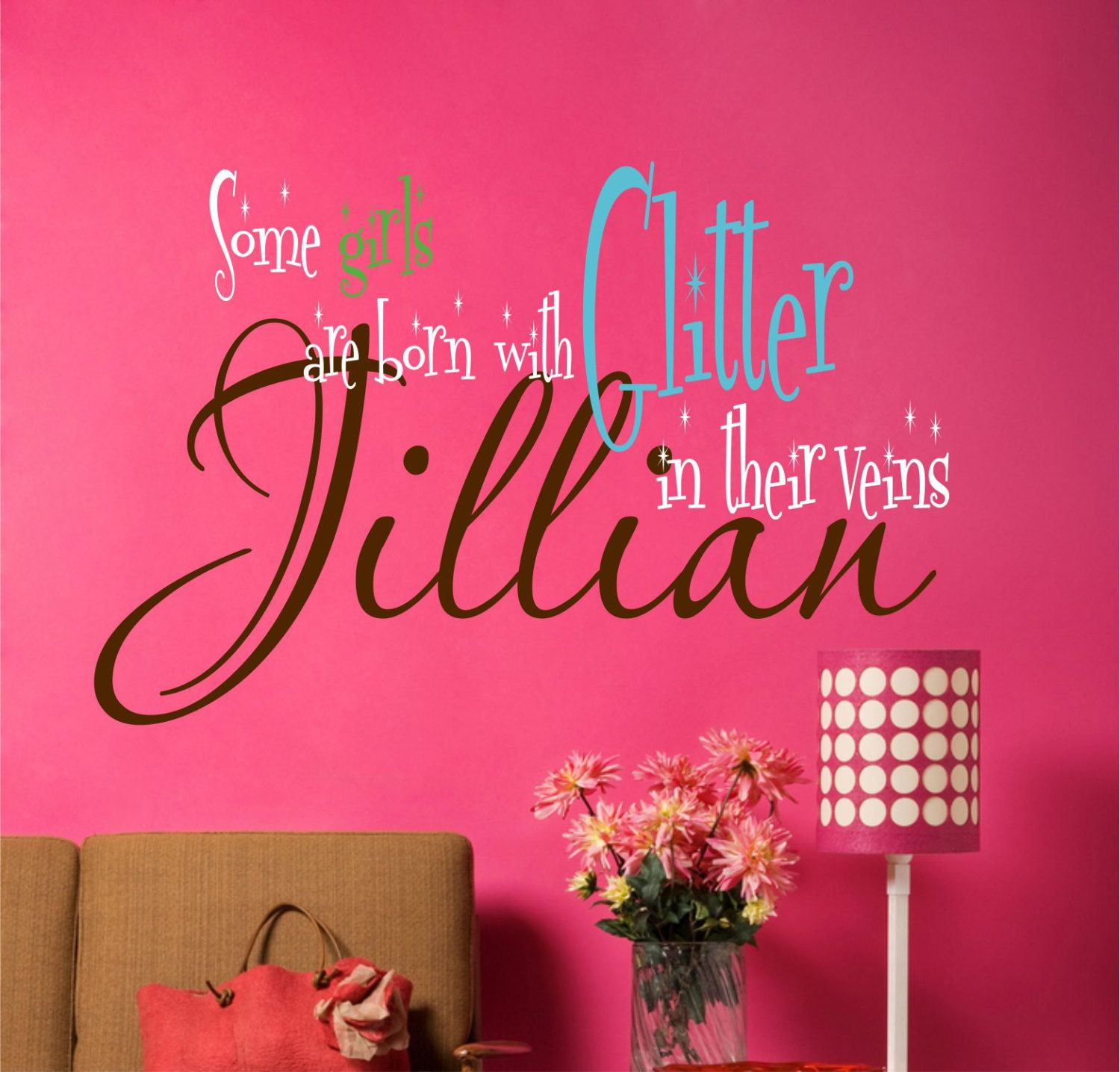 Children Wall Decals   Name Wall Decals   Girls Vinyl Wall Lettering   Teen  Wall Art