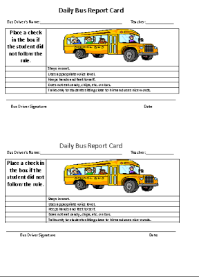 Freebie Read This Post About How To Implement A Daily Bus Report