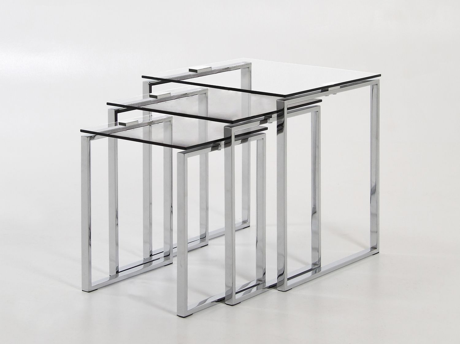Katrine Nest Of Tables In Clear Glasschrome Nesting