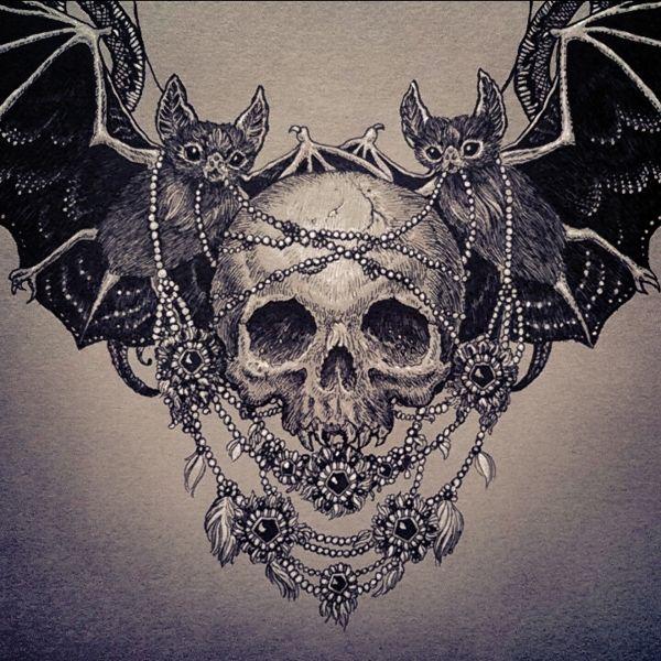 13 Artes Criativas Para O Halloween Skull Tattoos Skull Tattoos