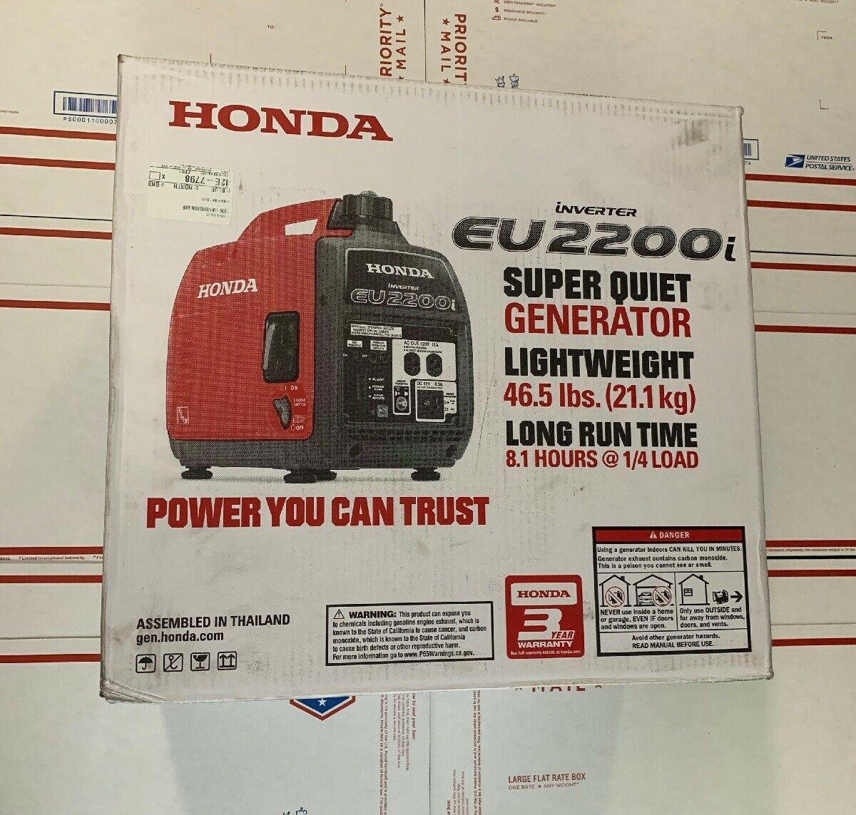 Honda Eu2200i 2200 Watt Super Quiet Gas Power Portable Inverter Generator 920 00 Power Gener Portable Inverter Generator Inverter Generator Power Generator
