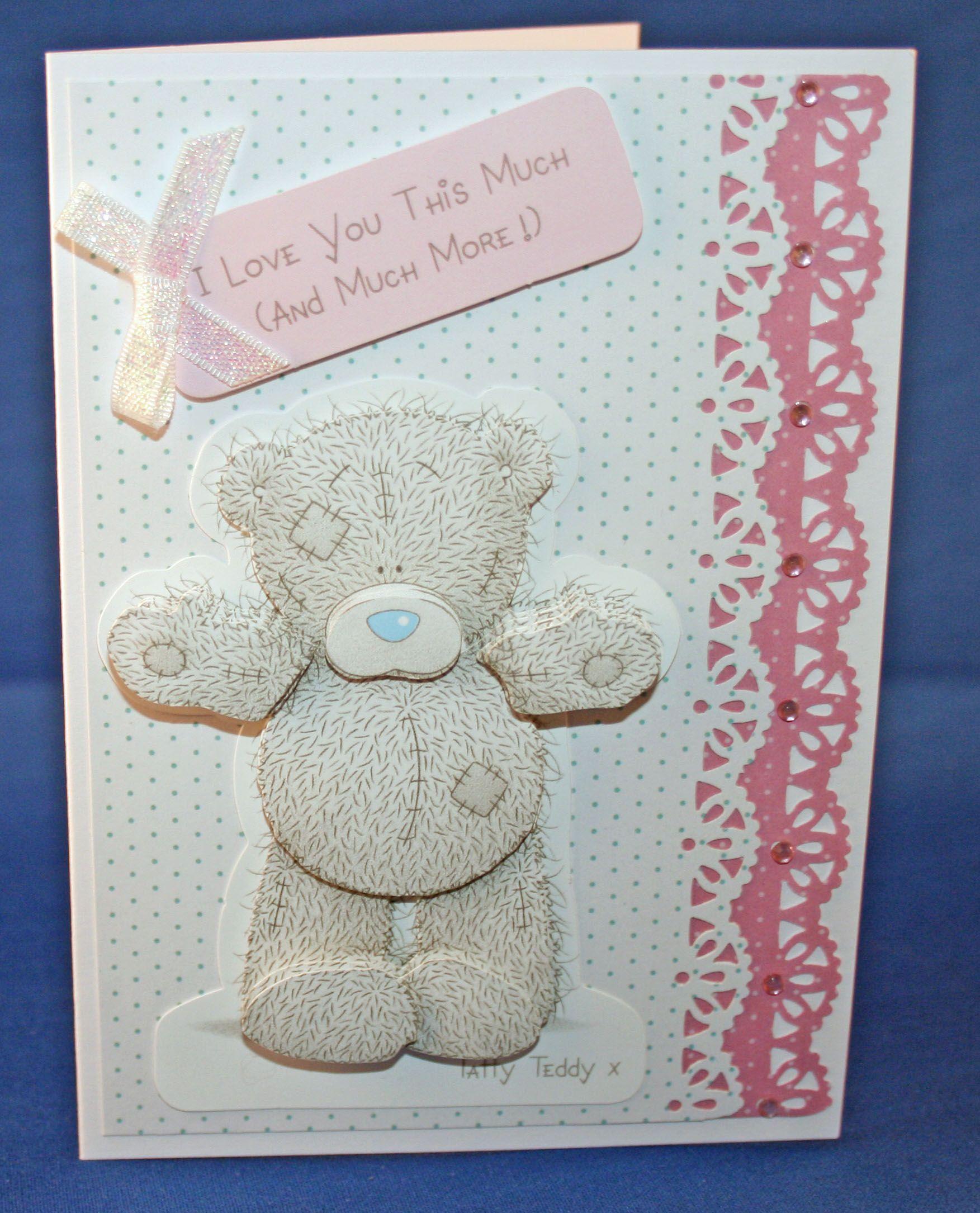 Tatty teddy uhugu card card making pinterest tatty teddy