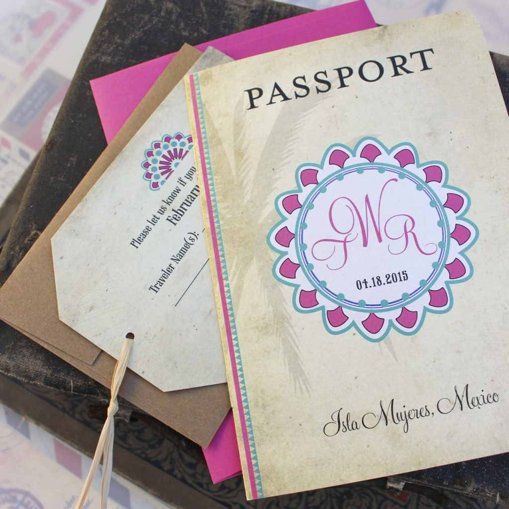 Mexico Passport Wedding Invitation | Serendipity Beyond Design Blogs ...