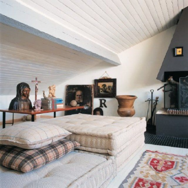 fabriquer des coussins fa on matelas idees deco pinterest le sol vivre et matelas. Black Bedroom Furniture Sets. Home Design Ideas