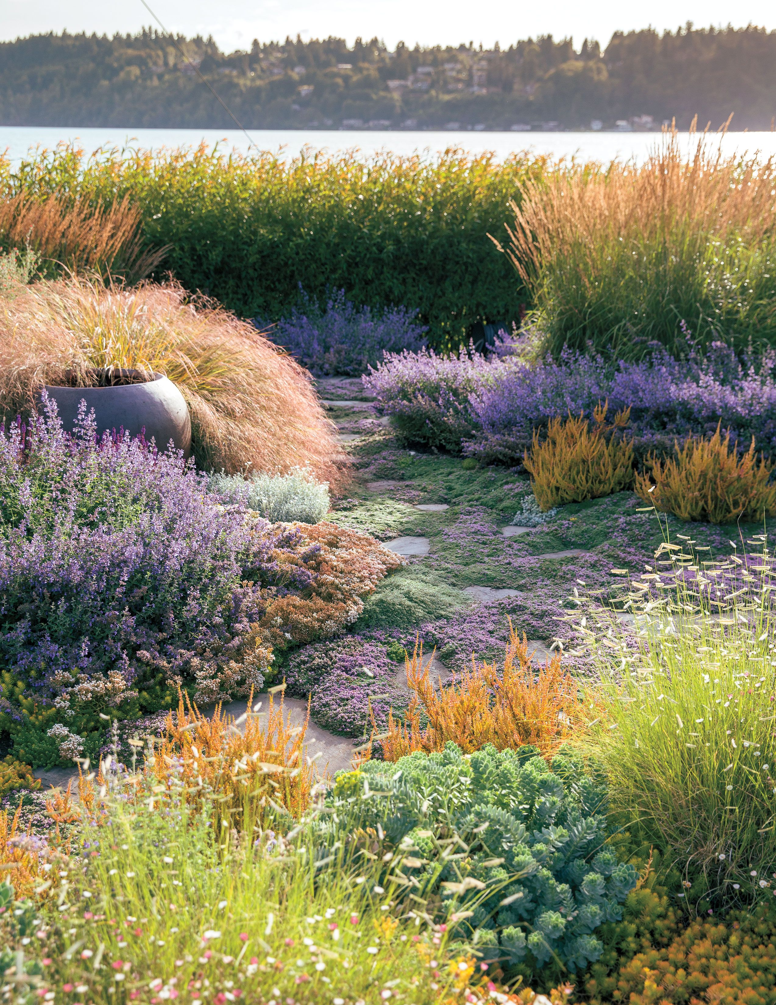How To Design a Waterfront Garden | Landscape design ... on Waterfront Backyard Ideas id=41219