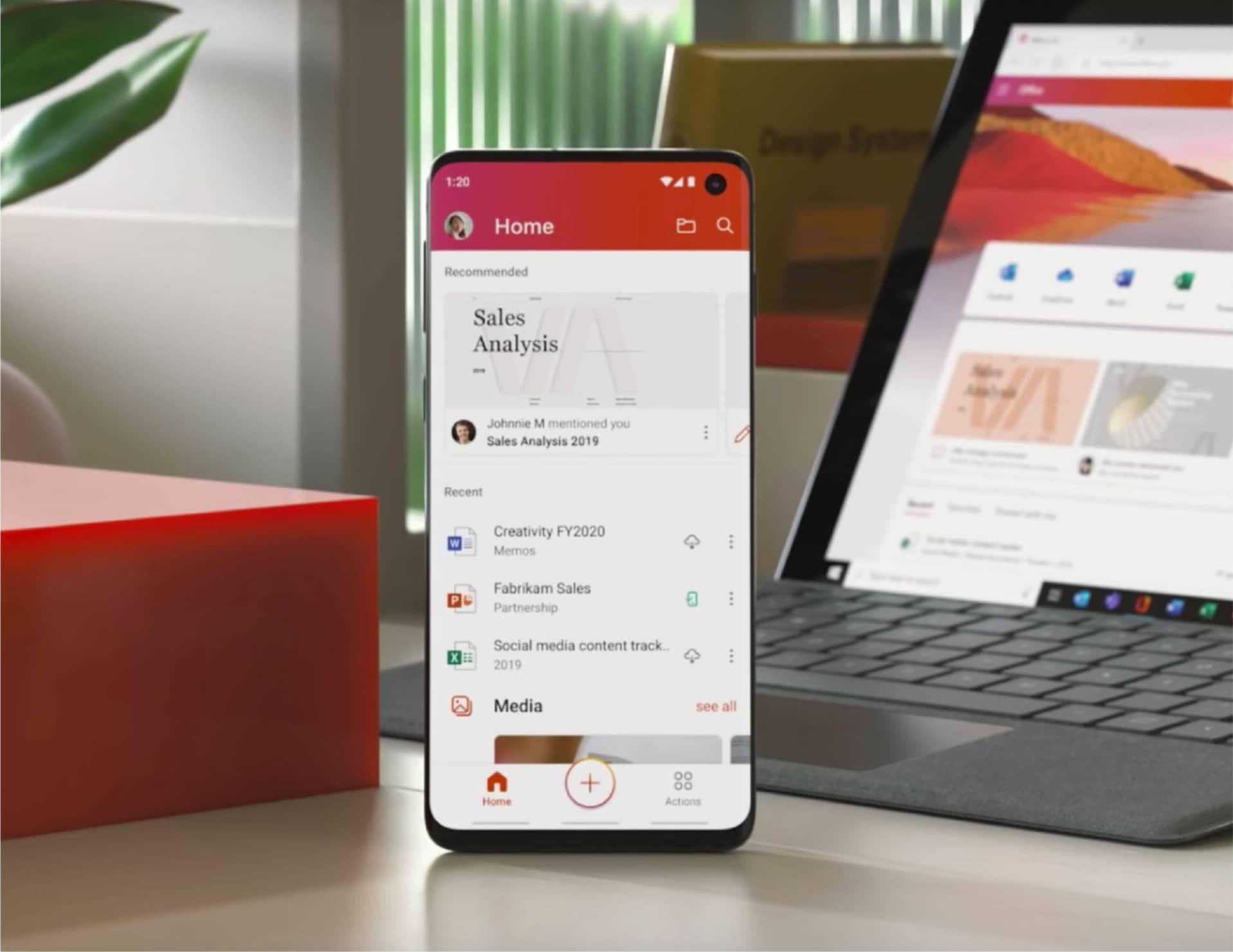 Microsoft launched the Microsoft Office app for iOS and