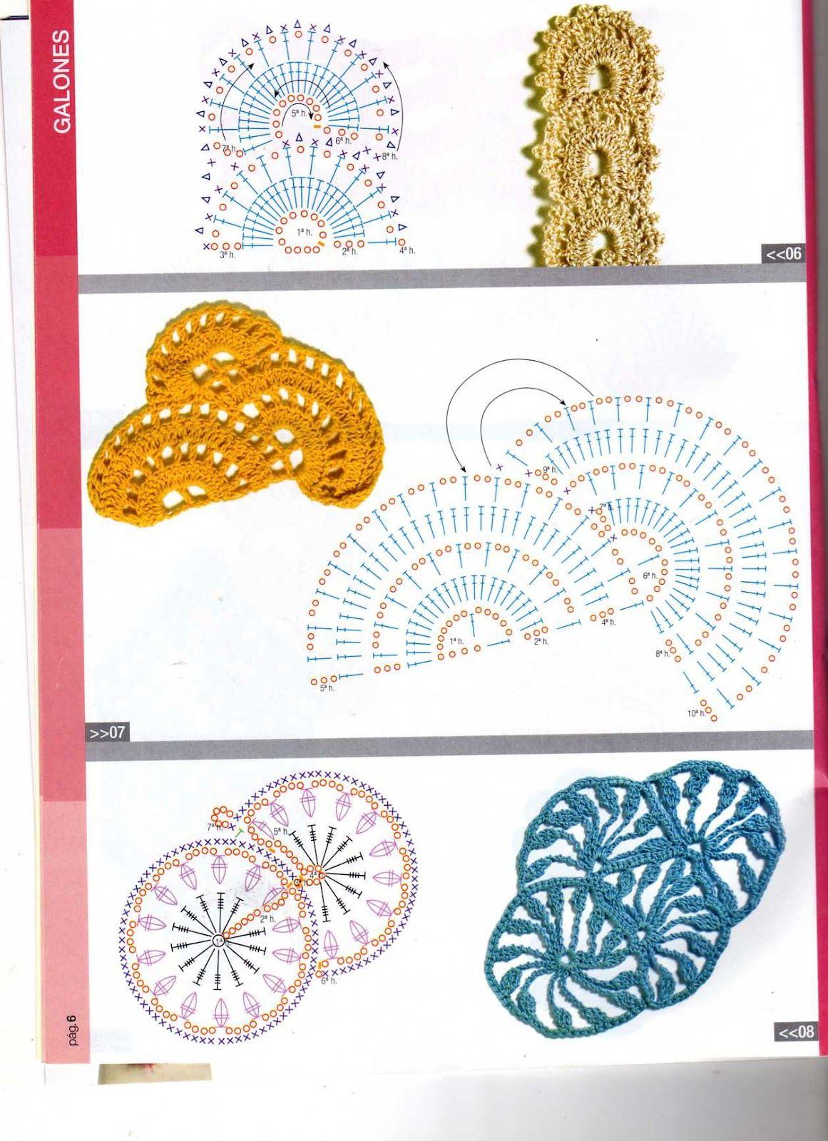 Pin de Mary Luz Reyes en puntadas   Pinterest   Croché, Puntos y ...