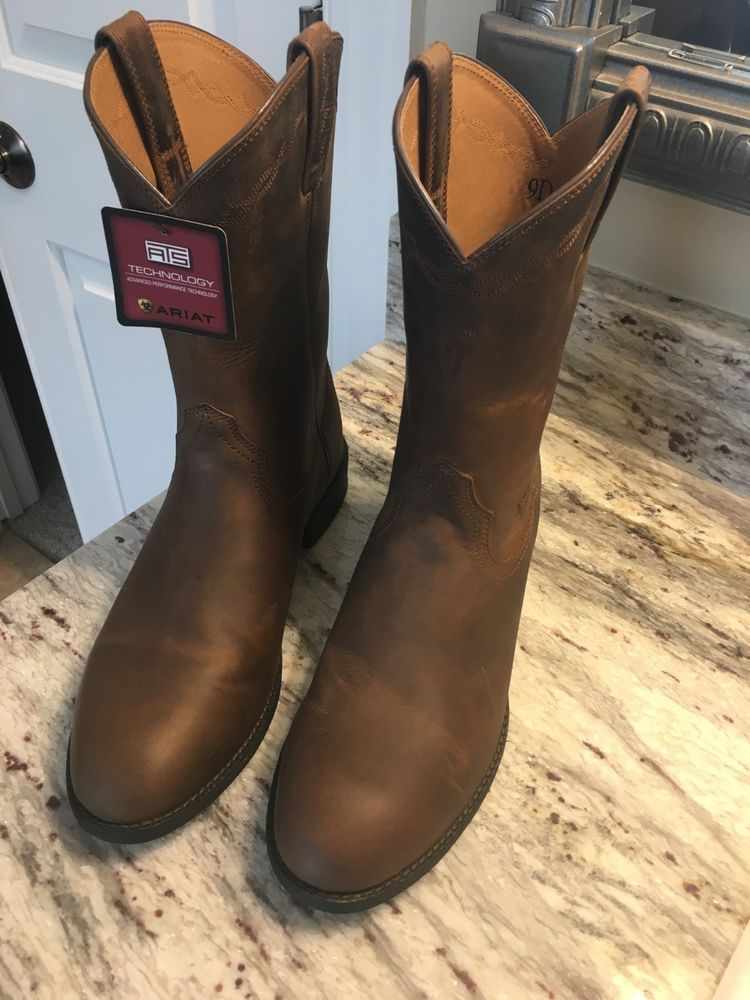 bdd67964763 NEW Ariat Mens Heritage Roper Distressed Brown Cowboy Boots Size 9D ...