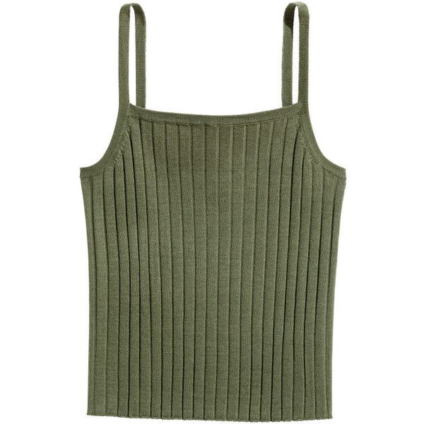 9c98832015f14c H M Ribbed Tank Top  6.99 ( 6.99) ❤ liked on Polyvore featuring tops