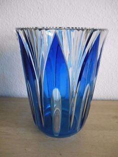 Val Saint Lambert Art Glass Vase