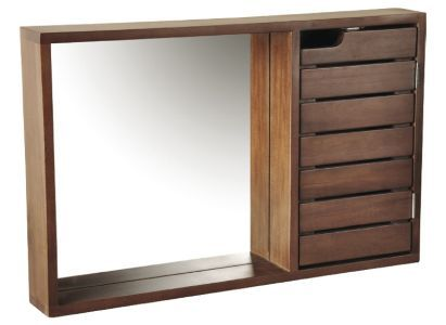 cooke lewis velon single door walnut effect mirror cabinet bq for all your home and garden supplies and advice on all the latest diy trends