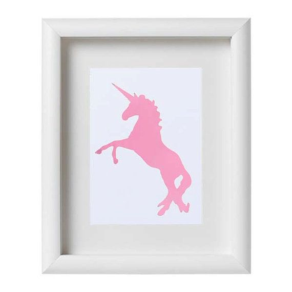 Genuine Foil Print Unicorn Princess Gold Foil by ColorMeUncommon