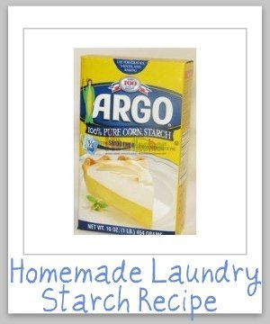 Homemade Laundry Starch Recipe Homemade Laundry Cleaners