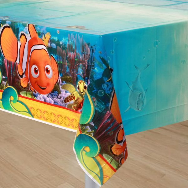 Finding Nemo Table Cover Makes A Cool Photo Backdrop, Too.