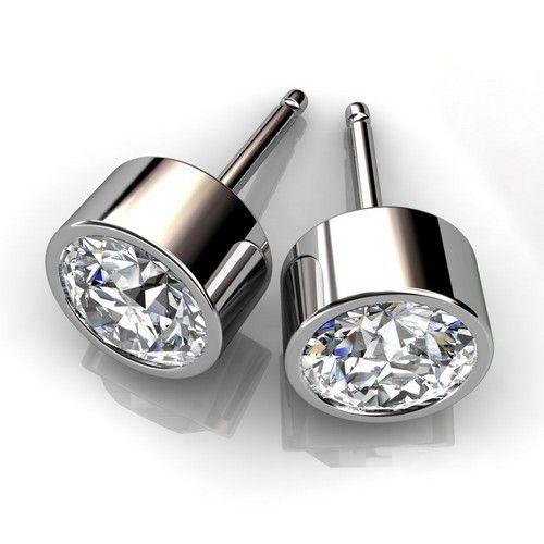 Unique Diamond Stud Earrings Luxury Diamond Jewelry Diamond Earrings Studs Bezel Earrings