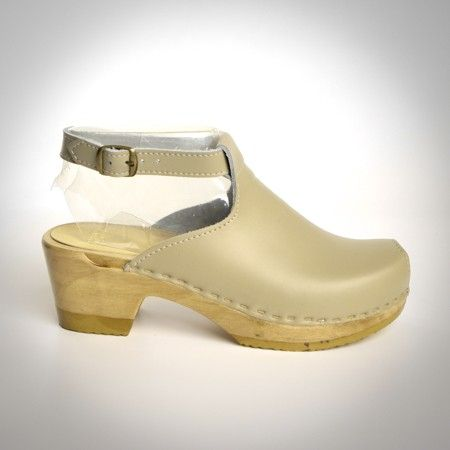 Halter Top Clogs - Peep Toe - Mid Heel