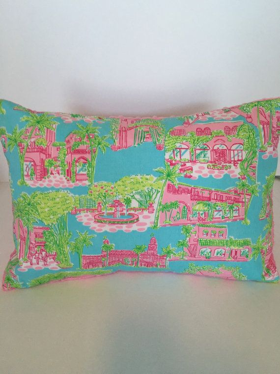 Lilly Pulitzer Pillow Lilly Pulitzer Decor by SweetBabyBurpies