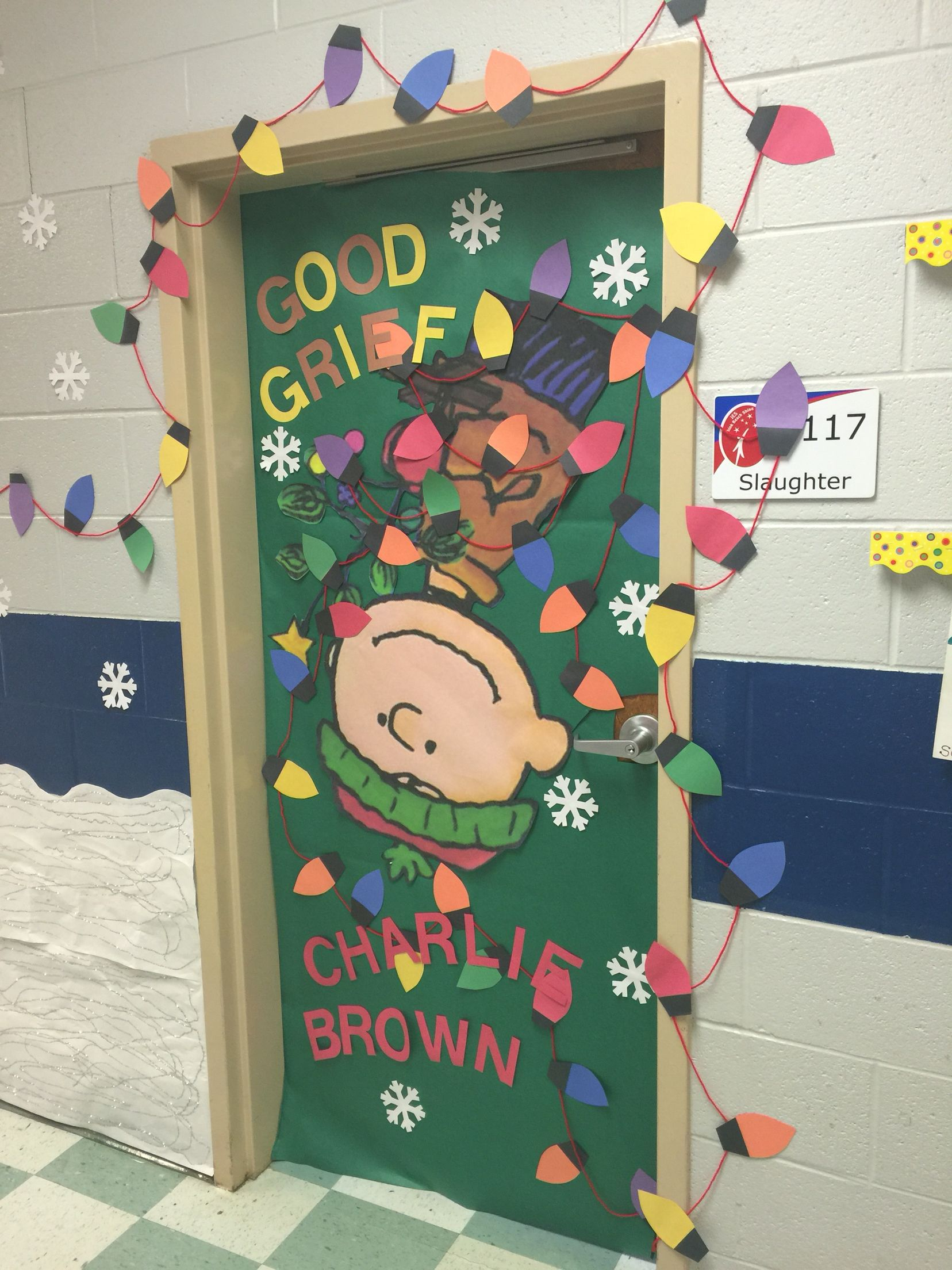 Charlie Brown Christmas | Classroom Doors | Pinterest ...