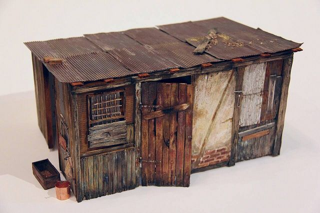 Farm Shed In 1 12 Scale By Alialamedy1982 Via Flickr Farm Shed Miniature Houses Model Trains