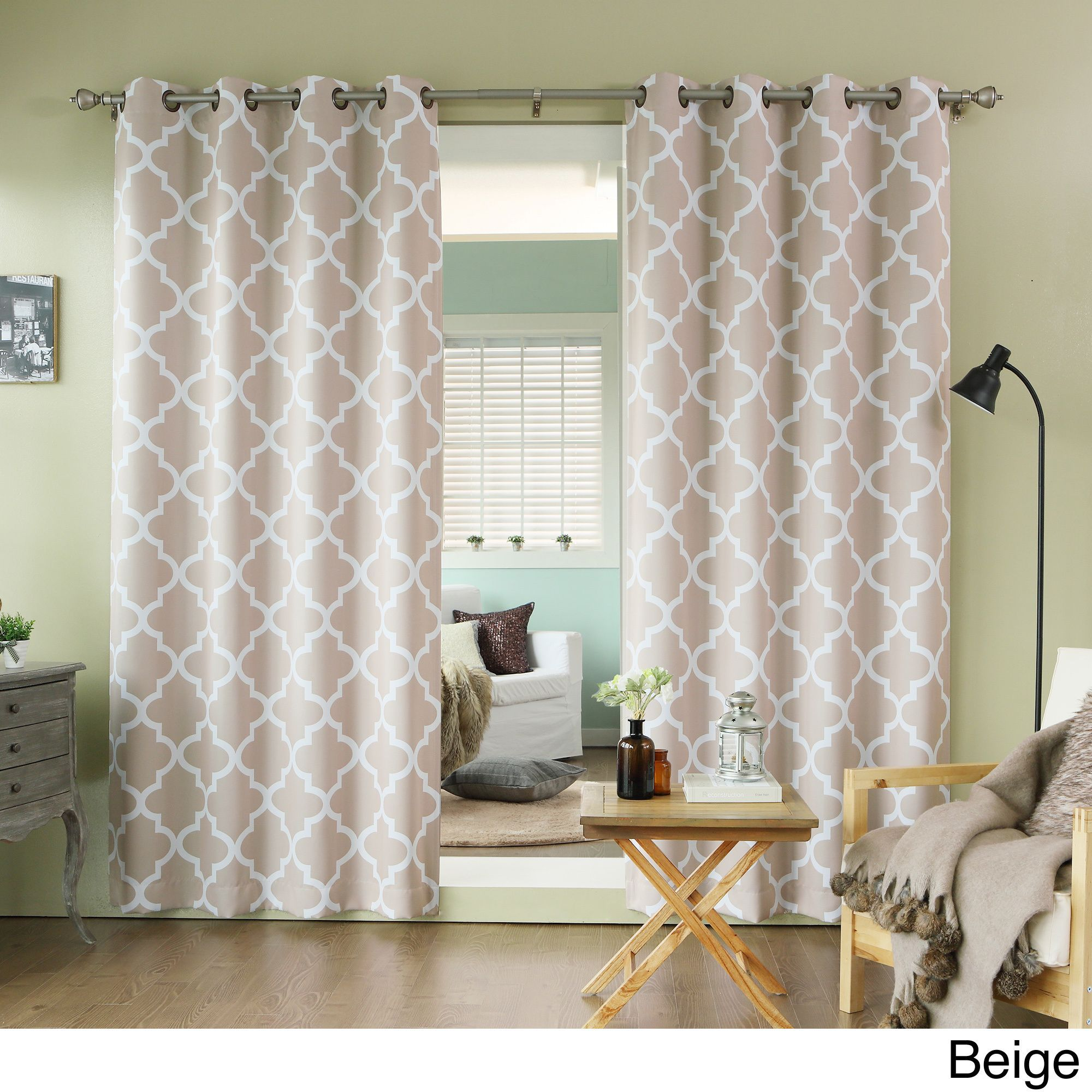 Aurora home moroccan tile inch window curtain pair overstock