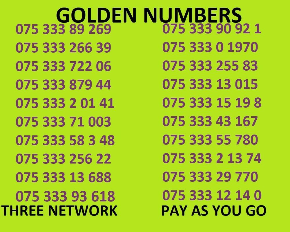 Golden number business easy mobile phone number diamond
